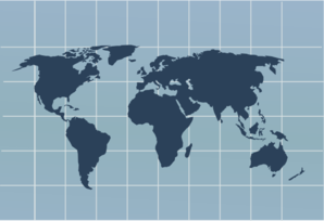 World Map With Grid Clip Art