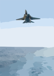 An F-14d Tomcat  Assigned To The Tomcatters Of Fighter Squadron Thirty One (vf-31) Prepares To Land On The Ship S Flight Deck. Clip Art