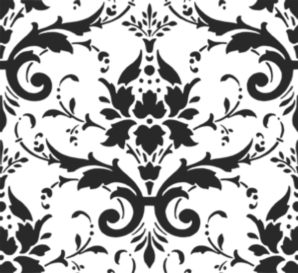 Black Damask Pattern Clip Art