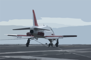 A T-45c Goshawk Assigned To The  Eagles  Of Training Squadron Seven (vt-7) Makes An Arrested Landing On The Flight Deck Aboard Uss Harry S. Truman (cvn 75). Clip Art
