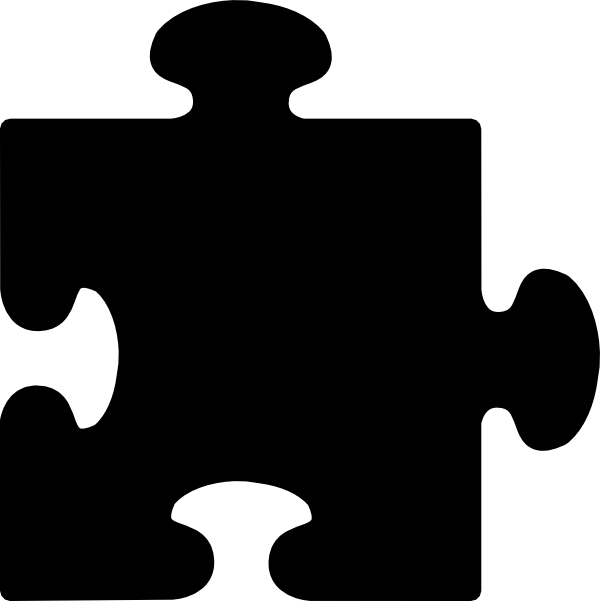 black puzzle piece clip art at clker com vector clip art online rh clker com vector puzzle piece road vector puzzle pieces illustrator free
