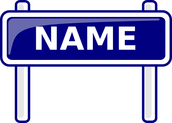 name sign clip art at clker com vector clip art online royalty rh clker com jasmine name clipart clipart name badge