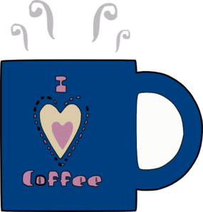 I Love Hot Coffee Clip Art