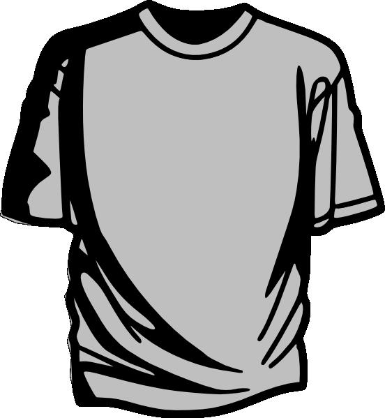 Grey shirt clip art at vector clip art online for Vector art for t shirts
