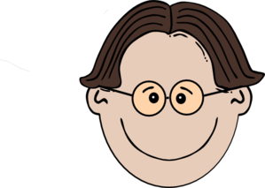Smiling Boy With Glasses Clip Art