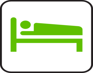 Green Bed Hotel Clip Art