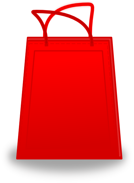 Red Shopping Bag Clip Art at Clker.com - vector clip art ...