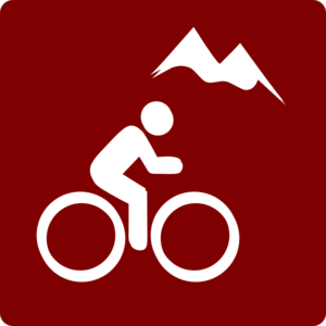 Hotel Icon Mountain Biking Clip Art -red/white Clip Art