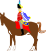 Soldier On Horse Clip Art