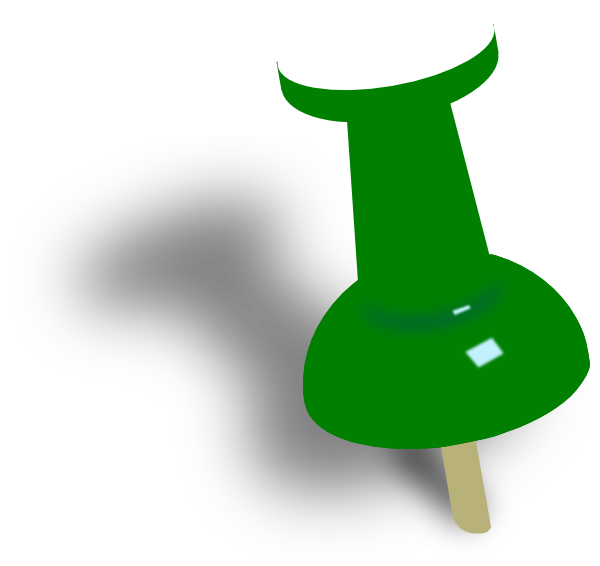 Green Push Pin Clip Art at Clker.com - vector clip art online, royalty ...: www.clker.com/clipart-green-push-pin-1.html