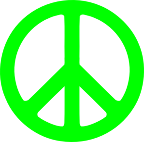 neon green peace sign clip art at clker com vector clip art online rh clker com peace sign clipart black and white peace sign clip art free