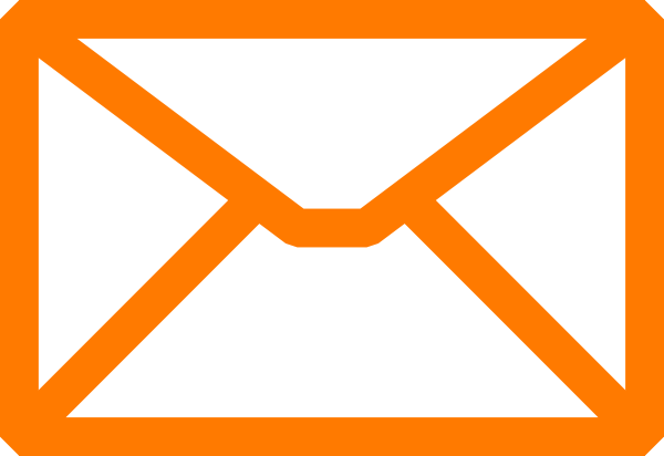 Orange Email Clip Art at Clker.com - vector clip art online, royalty ...