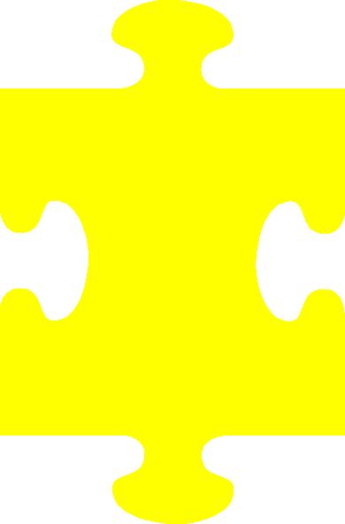 Puzzle Piece Yellow Clip Art at Clker.com - vector clip art online ...