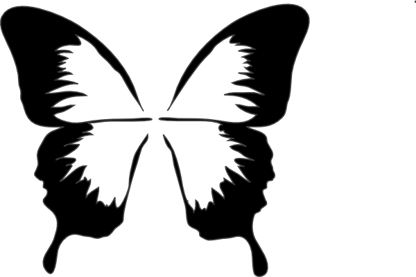 Butterfly Silhouette Clip Art At Clker Com Vector Clip