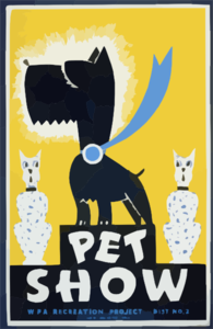 Pet Show Wpa Recreation Project, Dist. No. 2 / Gregg. Clip Art