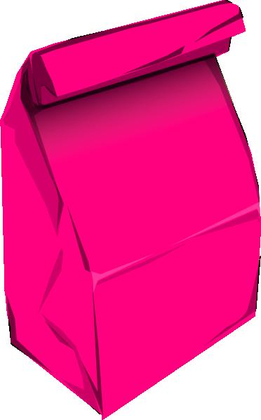 Lunch Bag Clipart Pink paper bag clip art
