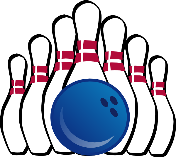 Bowling pin and ball clip art