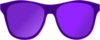 Purple Sunglasses Front Clip Art