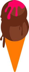 Chocolate Ice Cream Clip Art