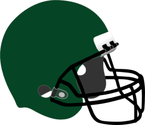 Dark Green Football Helmet Clip Art