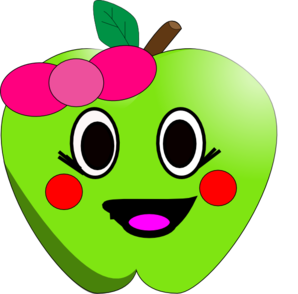 Happy Apple Clip Art