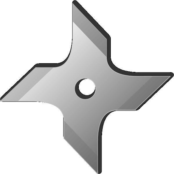 Ninja Star Clip Art at Clker.com - vector clip art online, royalty ...
