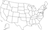 United States Map With States Clip Art