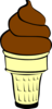 Chocolate Soft Served Ice Cream Cone Clip Art