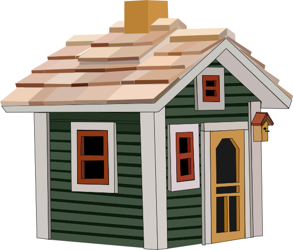 Http Www Clker Com Clipart Green Cottage Html