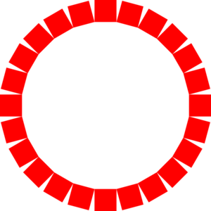 Circle Of Square In Red Clip Art
