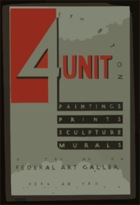 4  Unit Exhibition - Paintings, Prints, Sculpture, Murals Clip Art
