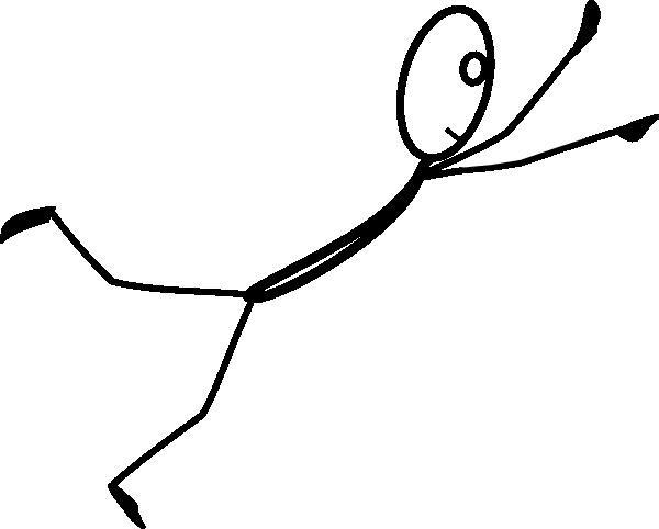 Stickman flying clip art at clker com vector clip art online