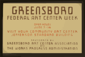 Greensboro Federal Art Center Week Open House June 7-14 : Visit Your Community Art Center, Jefferson Standard Building. Clip Art