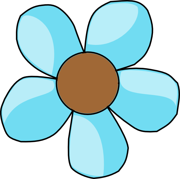 turquoise flower clip art at clker com vector clip art online rh clker com cute flower clipart free cute flower clipart and borders