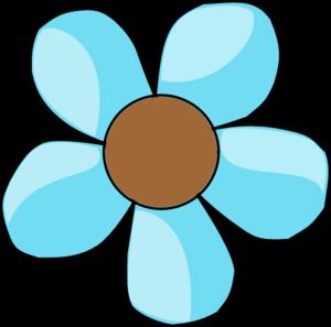 Turquoise Flower Clip Art at Clker.com - vector clip art online ...