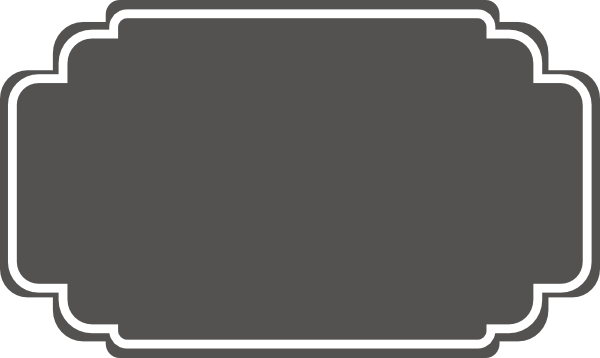 Clipart Grey Wedding Label 1 on Swirl Border Clip Art