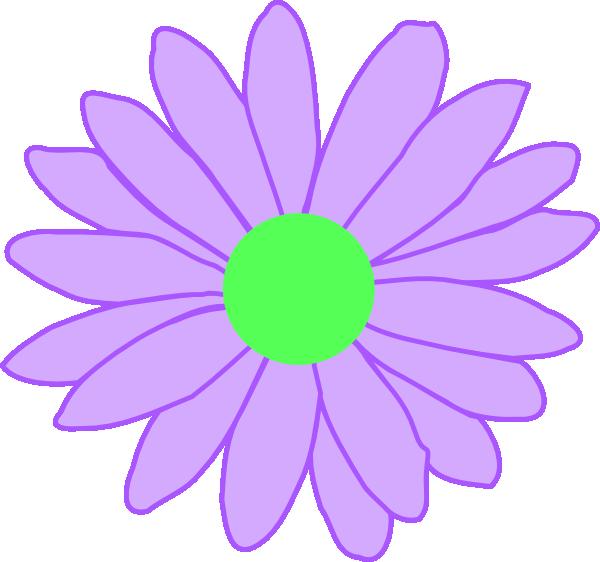 purple outline daisy clip art at clkercom vector clip