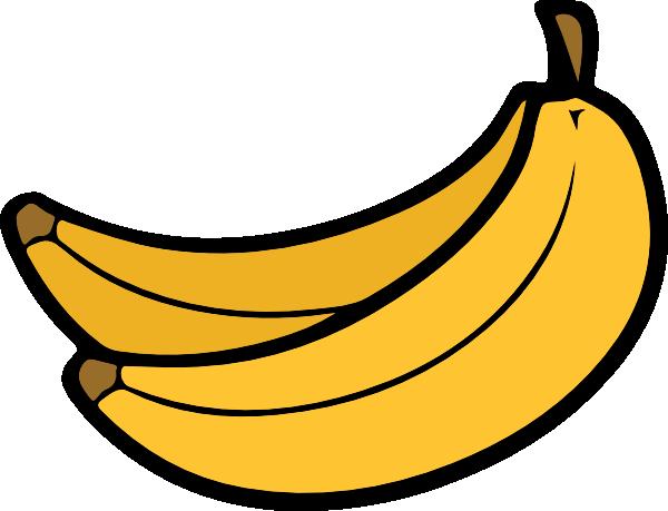 yellow bananas clip art at clker com vector clip art online rh clker com banana clip art black and white banana clipart png