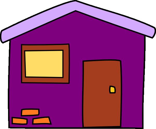 Purple House Clip Art At Clker Com Vector Clip Art