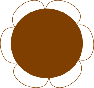 Brown Flower 2 Clip Art