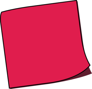 Off Red Sticky Note Clip Art