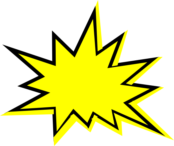yellow starburst clipart - photo #13