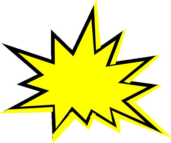 yellow starburst clipart - photo #13