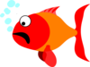 Scared Fish Clip Art