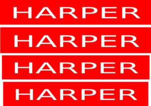 Stop Sign Harper Stickers  Clip Art