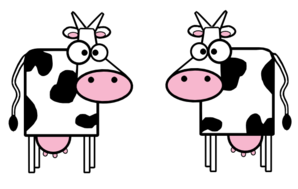 Cartoon Cows Clip Art