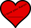 I Love You Aaron Clip Art