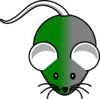 Green/gray Mouse Clip Art