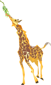 Giraffe Eating Clip Art