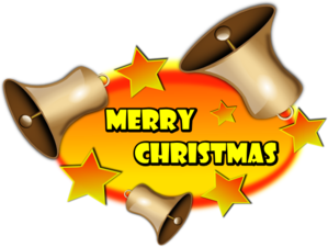 Merry Christmas With Bells Clip Art